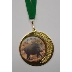 Medal myśliwski z naklejką Awers/Rewers