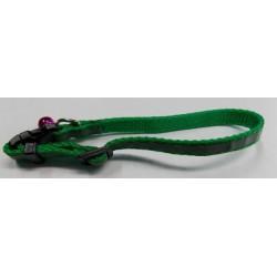 Obroża dla psa zielona z paskiem odblaskowym