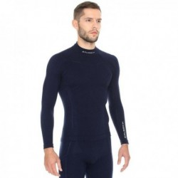 Bluza męska EXTREME WOOL Brubeck Czarne LS11920