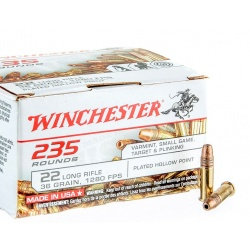 Amunicja Winchester 235 Rounds 22 Long Rifle plated hollow point