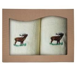 Komplet ręczników jeleń ecru