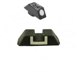 Muszka metalowa Glock (7087) + Szczerbinka stalowa Glock 6.5mm (4197)