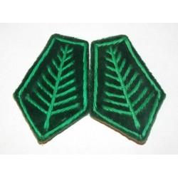Dystynkcje do munduru zielone