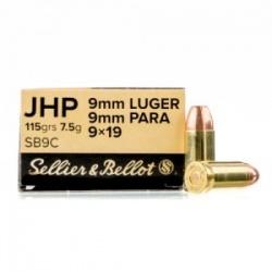Amunicja Seller&Bellot 9mm Luger 9x19 JHP 115 grain 7,5g