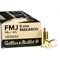 Amunicja Seller&Bellot 9mm Makarov FMJ 95grain 6 ,1g