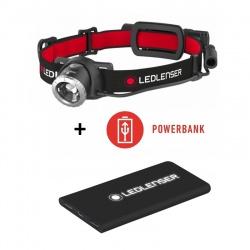 Ledlenser H8R + powerbank, latarka czołowa z upominkiem