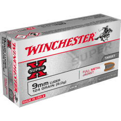 Amunicja Winchester 9mm Luger 9x19 FMJ 115 grain 7,5g