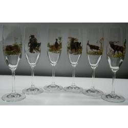 Komplet kieliszków do szampana naklejka