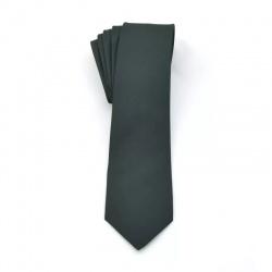 Krawat zielony gładki
