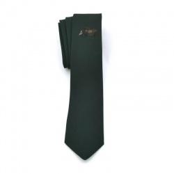 Krawat zielony z dzikiem