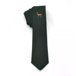 Krawat zielony z kozłem