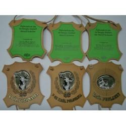 Medale Skóra, zestaw Król, V-ce, Pudlarz
